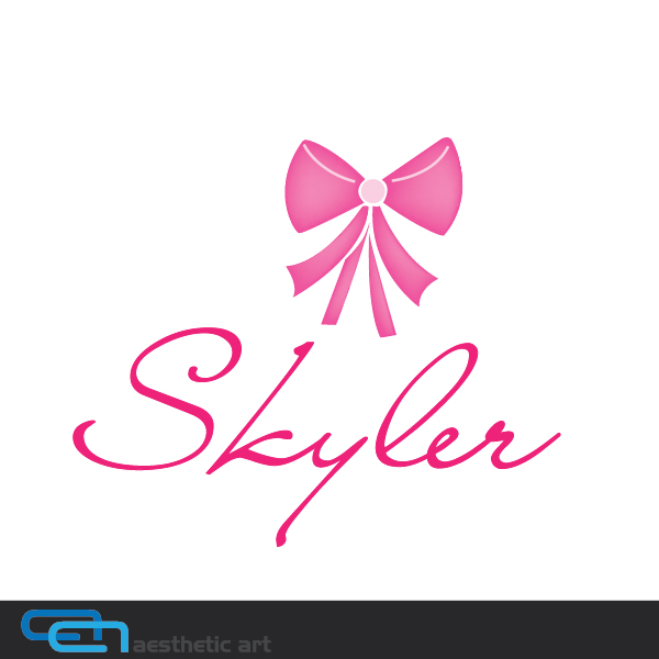 Logo Design by aesthetic-art - Entry No. 116 in the Logo Design Contest Skyler Clothing Logo.