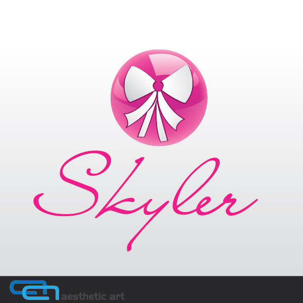 Logo Design by aesthetic-art - Entry No. 119 in the Logo Design Contest Skyler Clothing Logo.