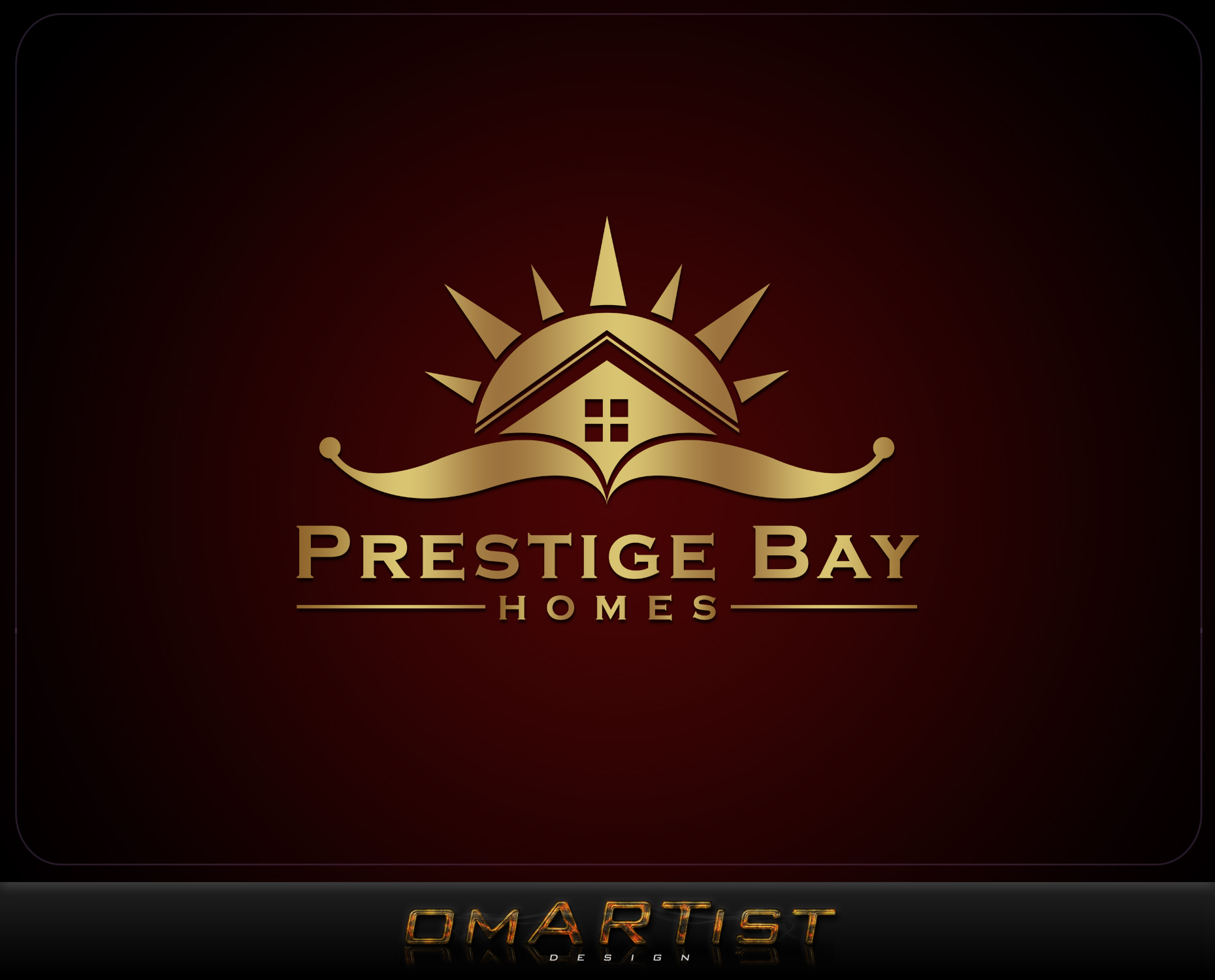 Logo Design by omARTist - Entry No. 144 in the Logo Design Contest Imaginative Logo Design for Prestige Bay Homes.