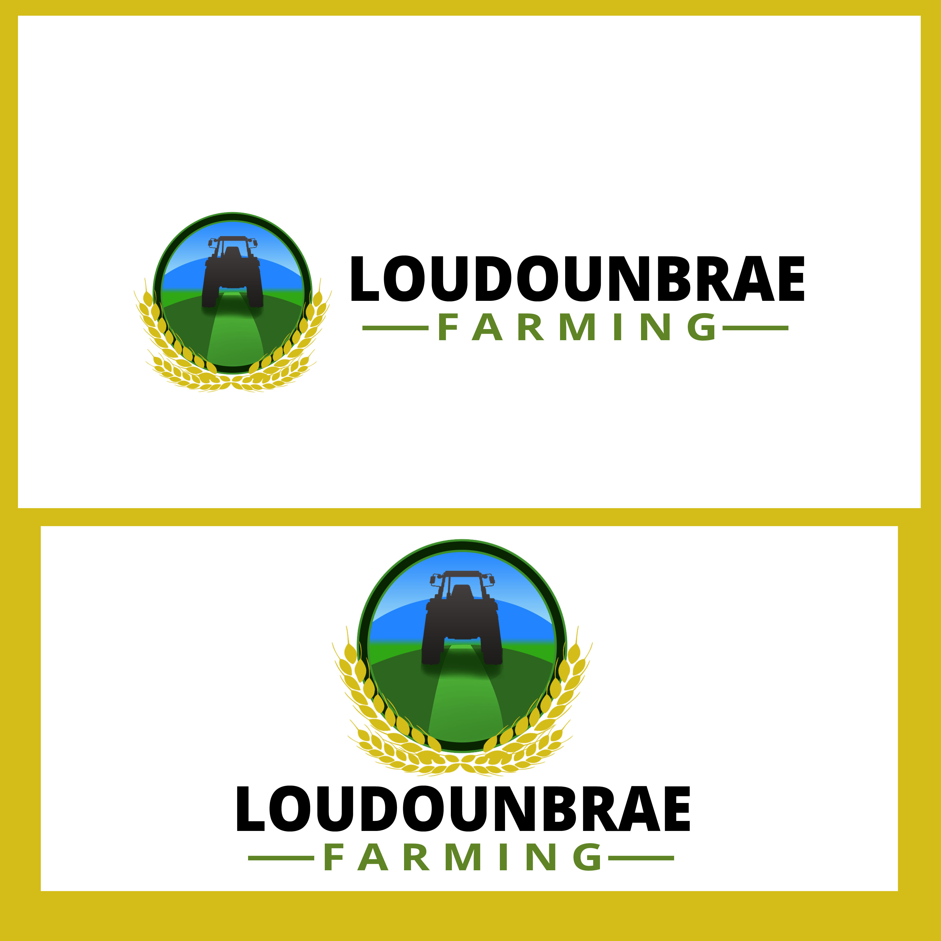 Logo Design by Allan Esclamado - Entry No. 8 in the Logo Design Contest Creative Logo Design for Loudounbrae Farming.