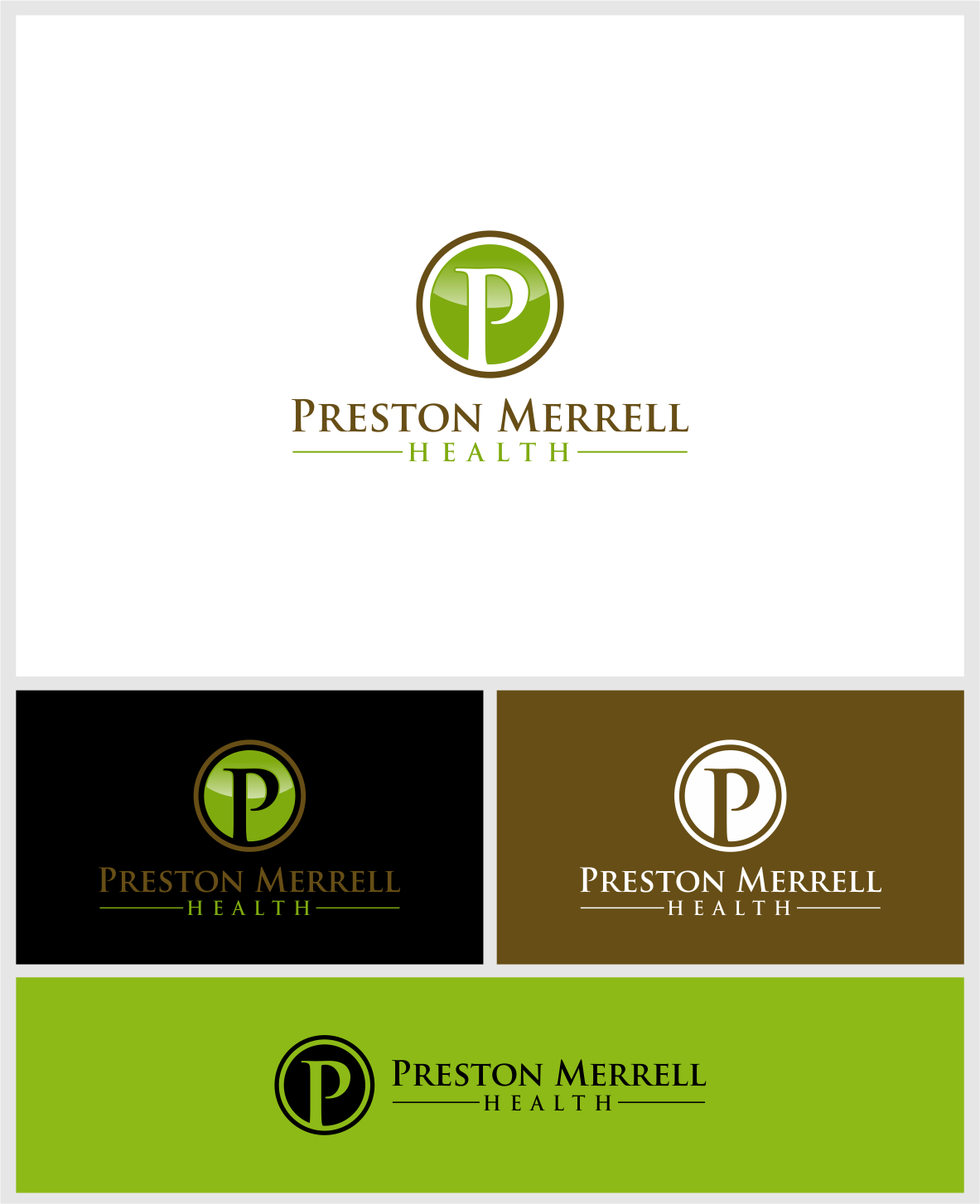 Logo Design by haidu - Entry No. 40 in the Logo Design Contest Creative Logo Design for Preston Merrell Health.