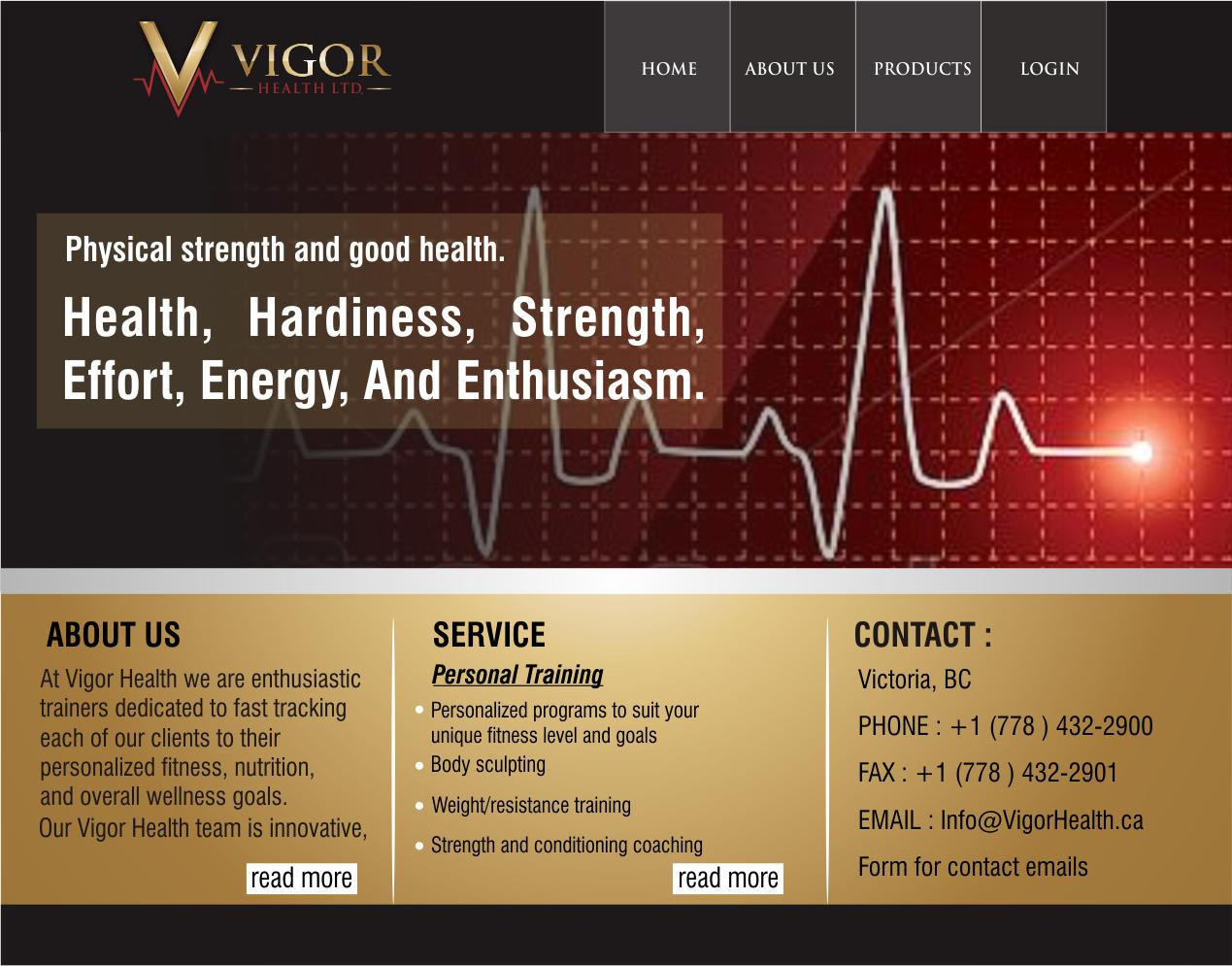 Custom Design by ronny - Entry No. 38 in the Custom Design Contest New Custom Design for Vigor Health Ltd..