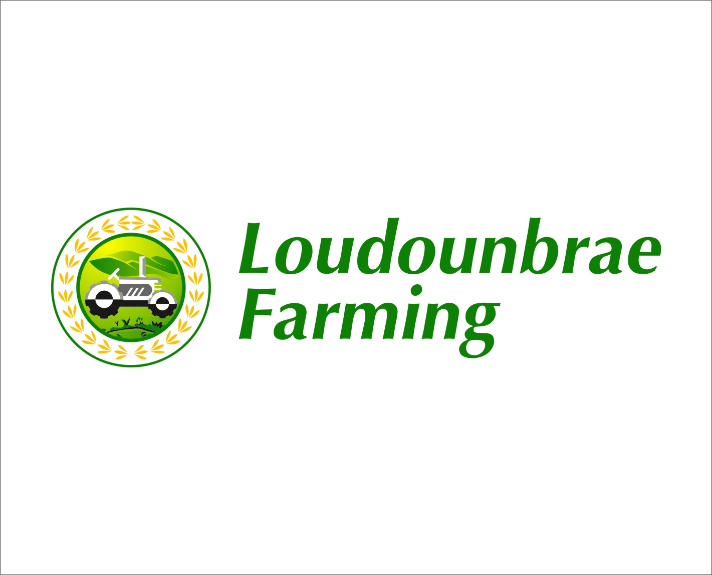 Logo Design by RasYa Muhammad Athaya - Entry No. 21 in the Logo Design Contest Creative Logo Design for Loudounbrae Farming.