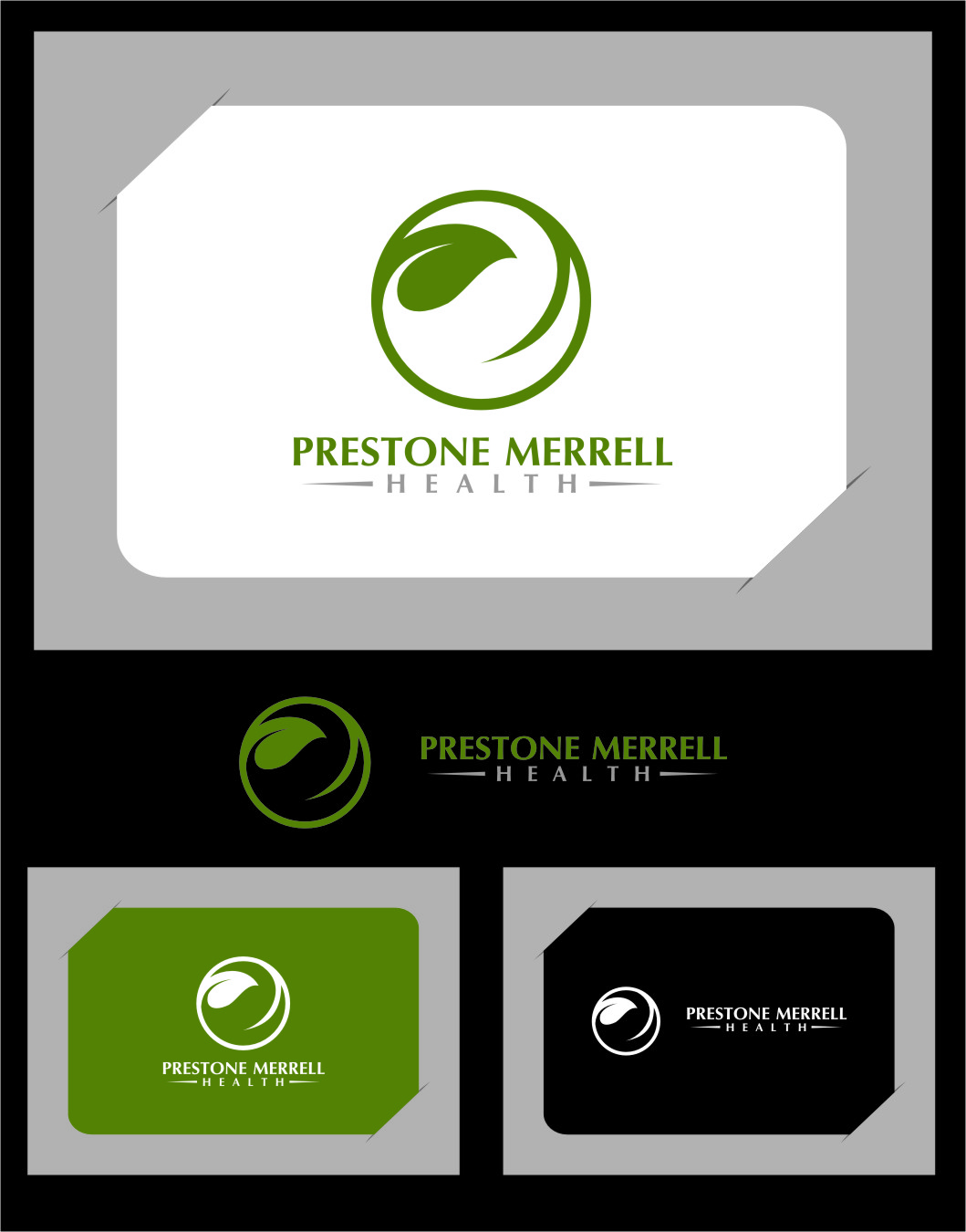 Logo Design by Ngepet_art - Entry No. 50 in the Logo Design Contest Creative Logo Design for Preston Merrell Health.