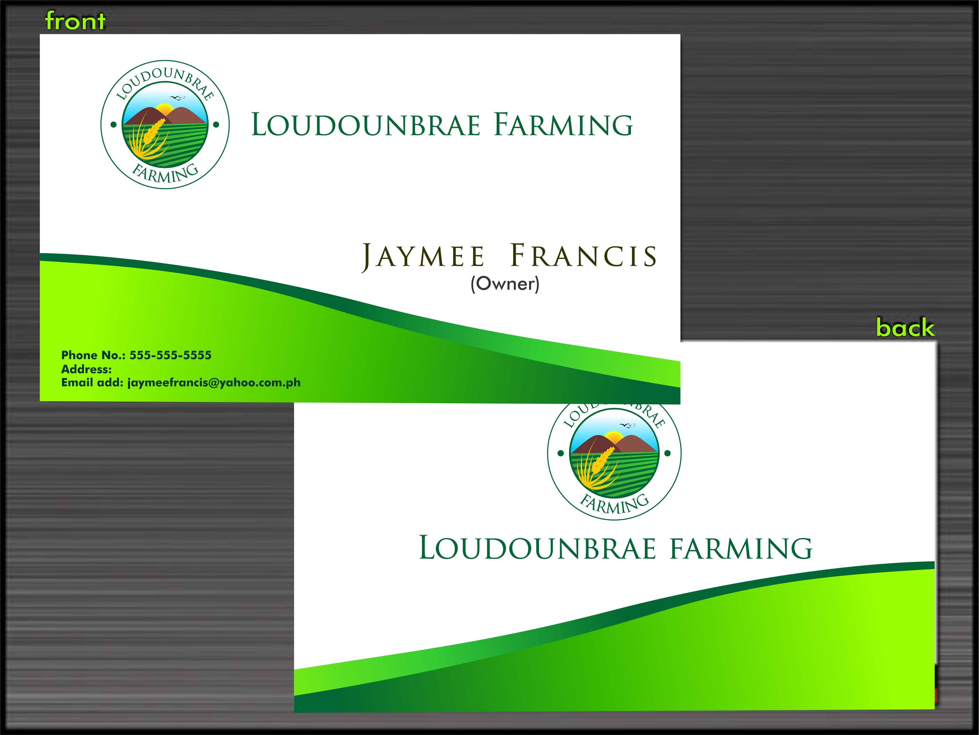 Logo Design by Mhon_Rose - Entry No. 25 in the Logo Design Contest Creative Logo Design for Loudounbrae Farming.