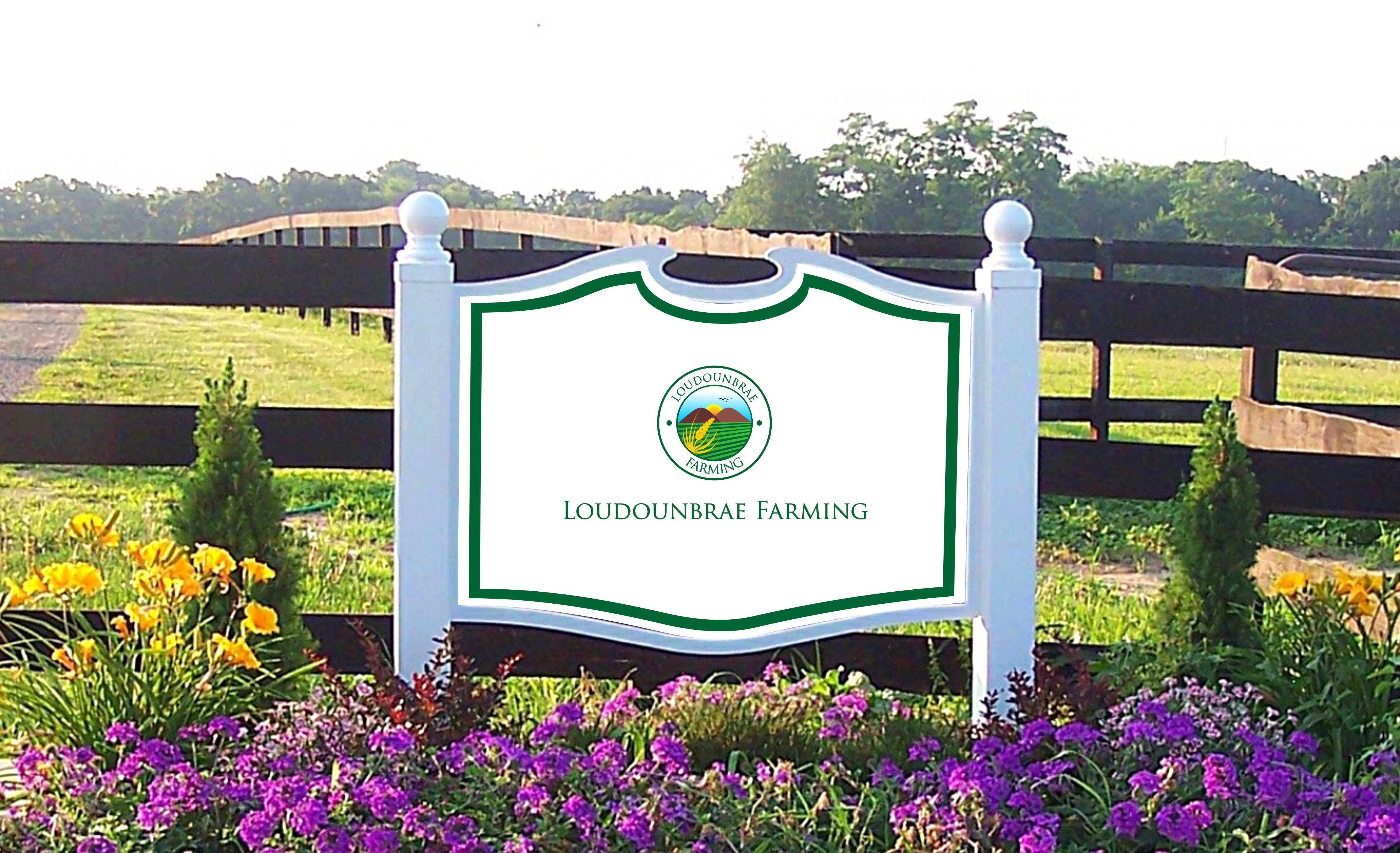 Logo Design by Mhon_Rose - Entry No. 27 in the Logo Design Contest Creative Logo Design for Loudounbrae Farming.