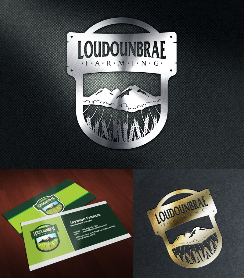 Logo Design by Puspita Wahyuni - Entry No. 34 in the Logo Design Contest Creative Logo Design for Loudounbrae Farming.