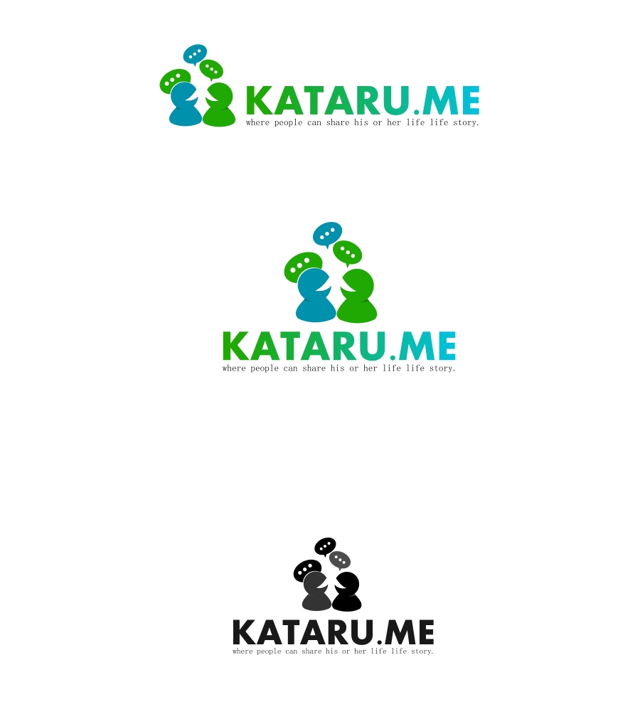 Logo Design by Private User - Entry No. 5 in the Logo Design Contest Inspiring Logo Design for KATARU.ME.