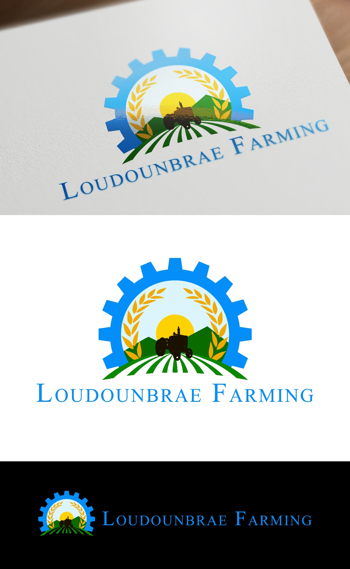 Logo Design by Juan_Kata - Entry No. 40 in the Logo Design Contest Creative Logo Design for Loudounbrae Farming.