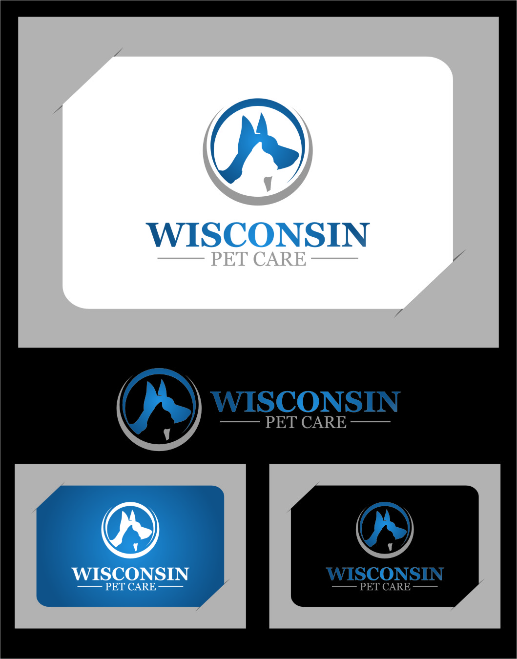 Logo Design by RasYa Muhammad Athaya - Entry No. 5 in the Logo Design Contest Captivating Logo Design for Wisconsin Pet Care.