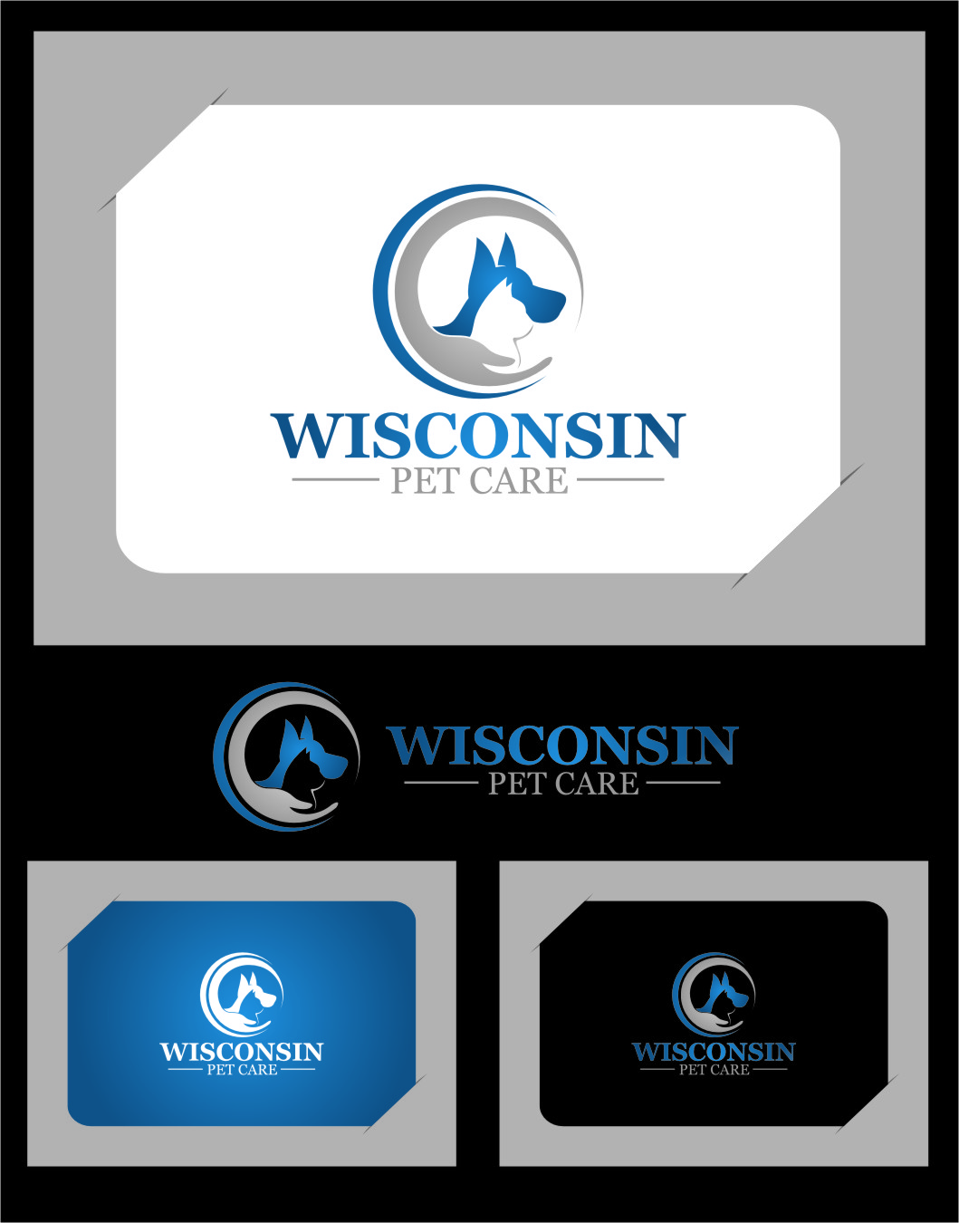Logo Design by Ngepet_art - Entry No. 6 in the Logo Design Contest Captivating Logo Design for Wisconsin Pet Care.