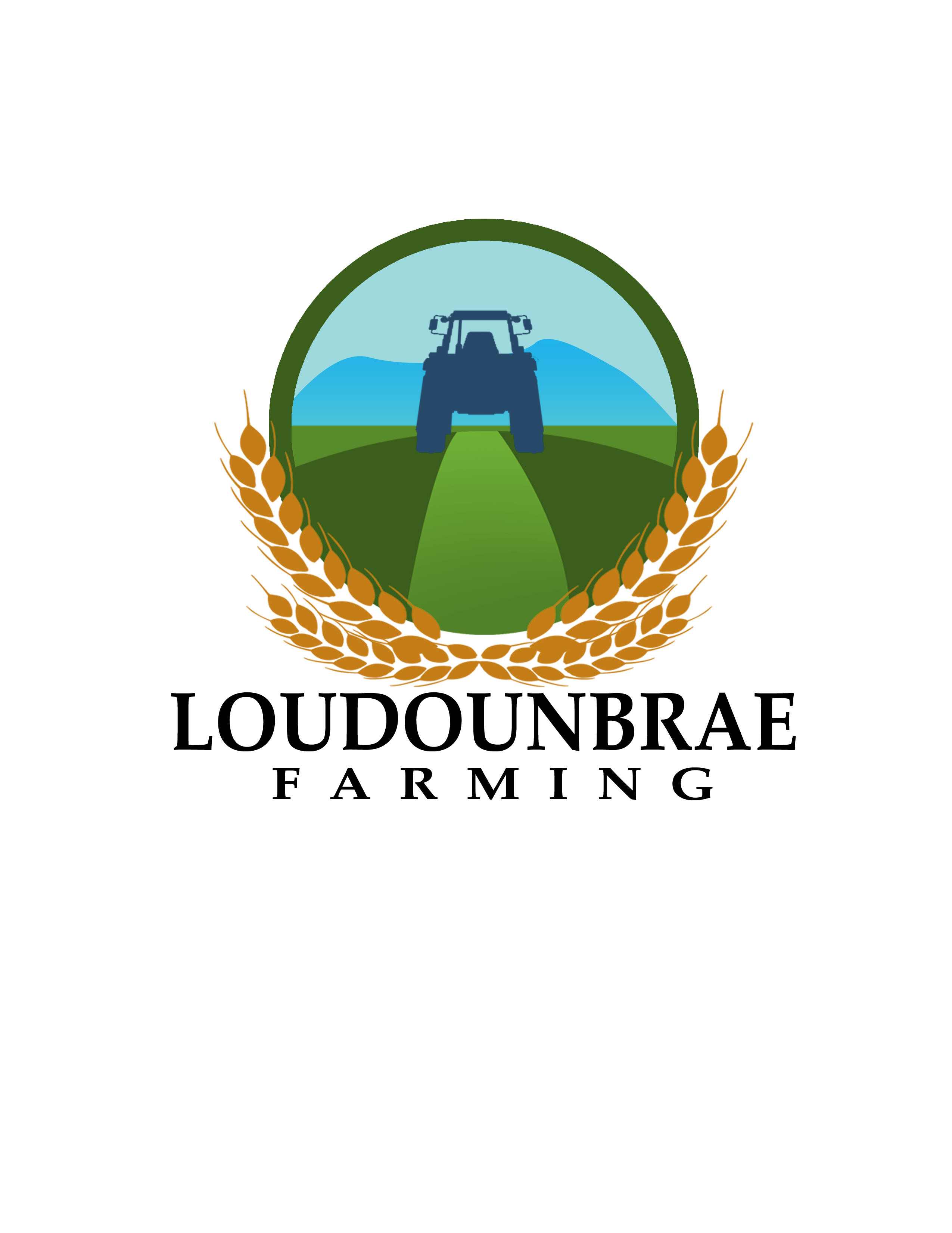 Logo Design by Allan Esclamado - Entry No. 51 in the Logo Design Contest Creative Logo Design for Loudounbrae Farming.