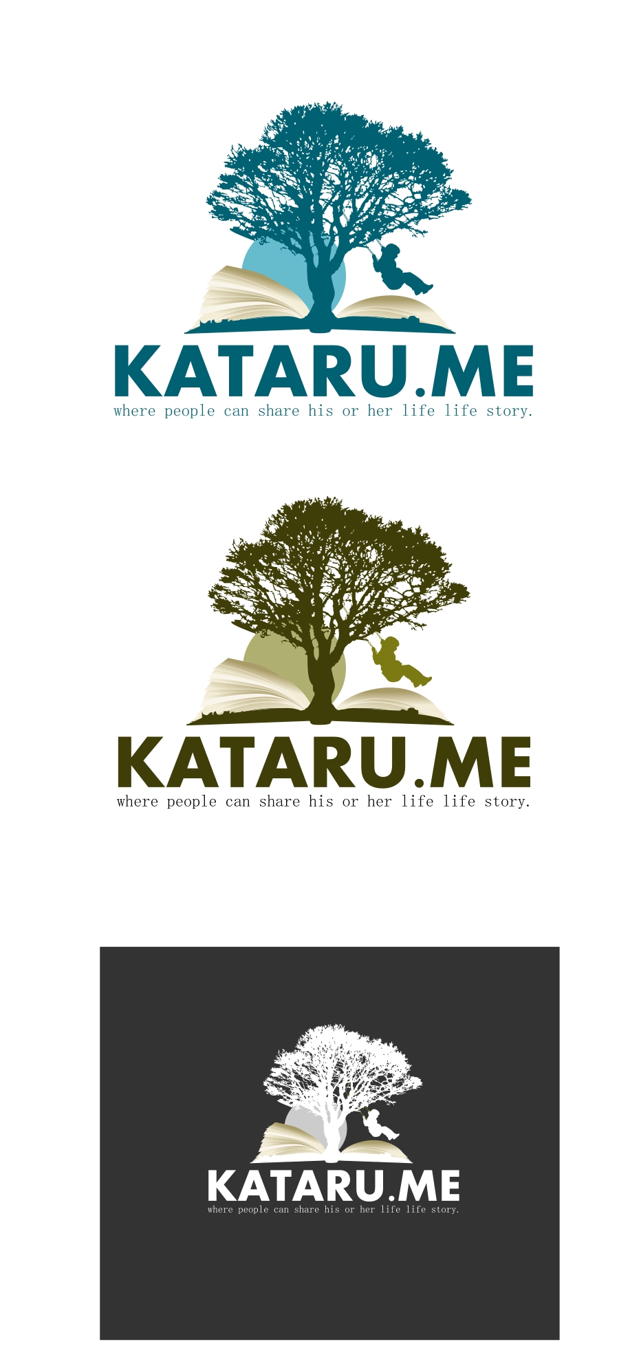 Logo Design by Private User - Entry No. 12 in the Logo Design Contest Inspiring Logo Design for KATARU.ME.