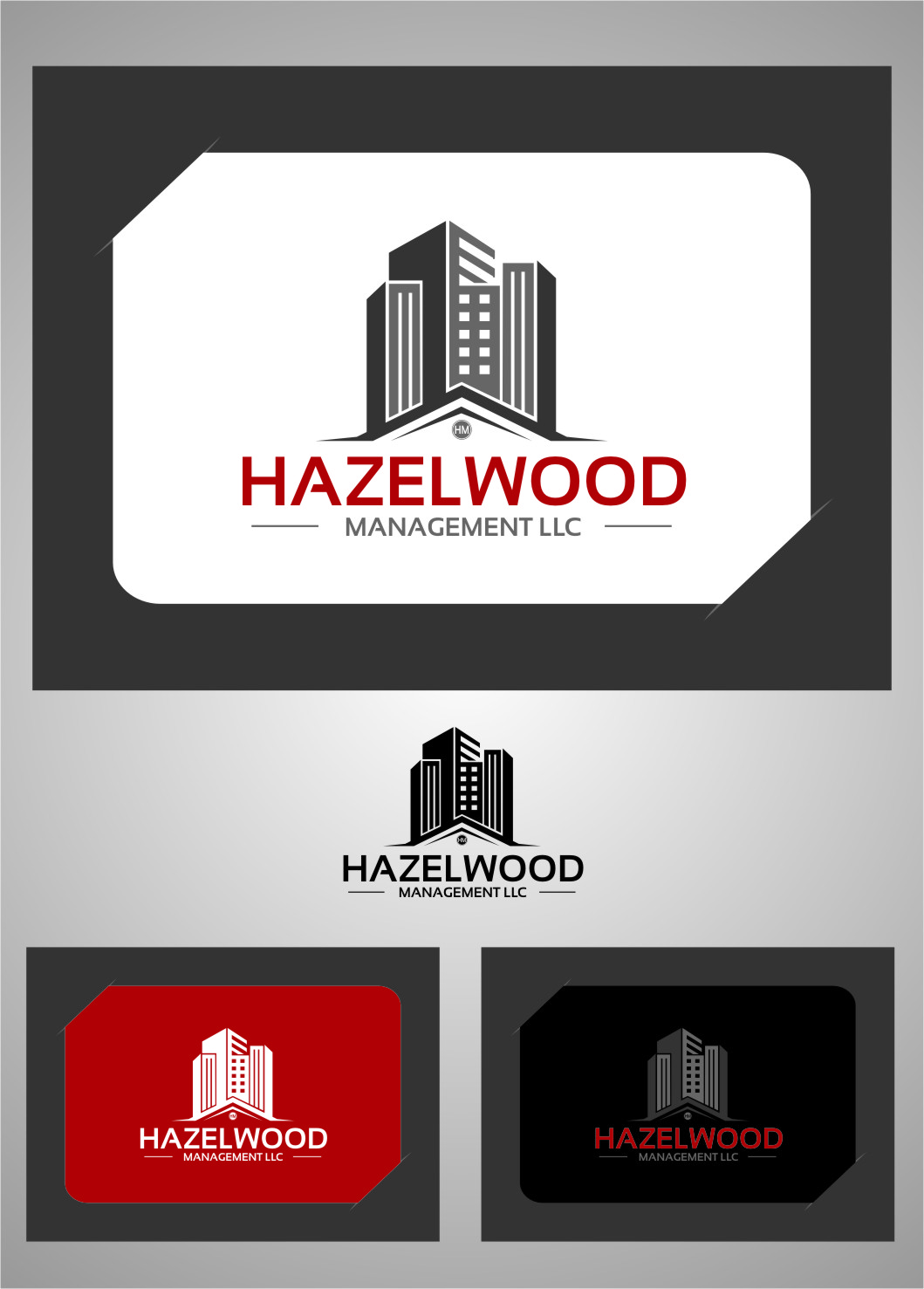 Logo Design by Ngepet_art - Entry No. 1 in the Logo Design Contest Hazelwood Management LLC Logo Design.