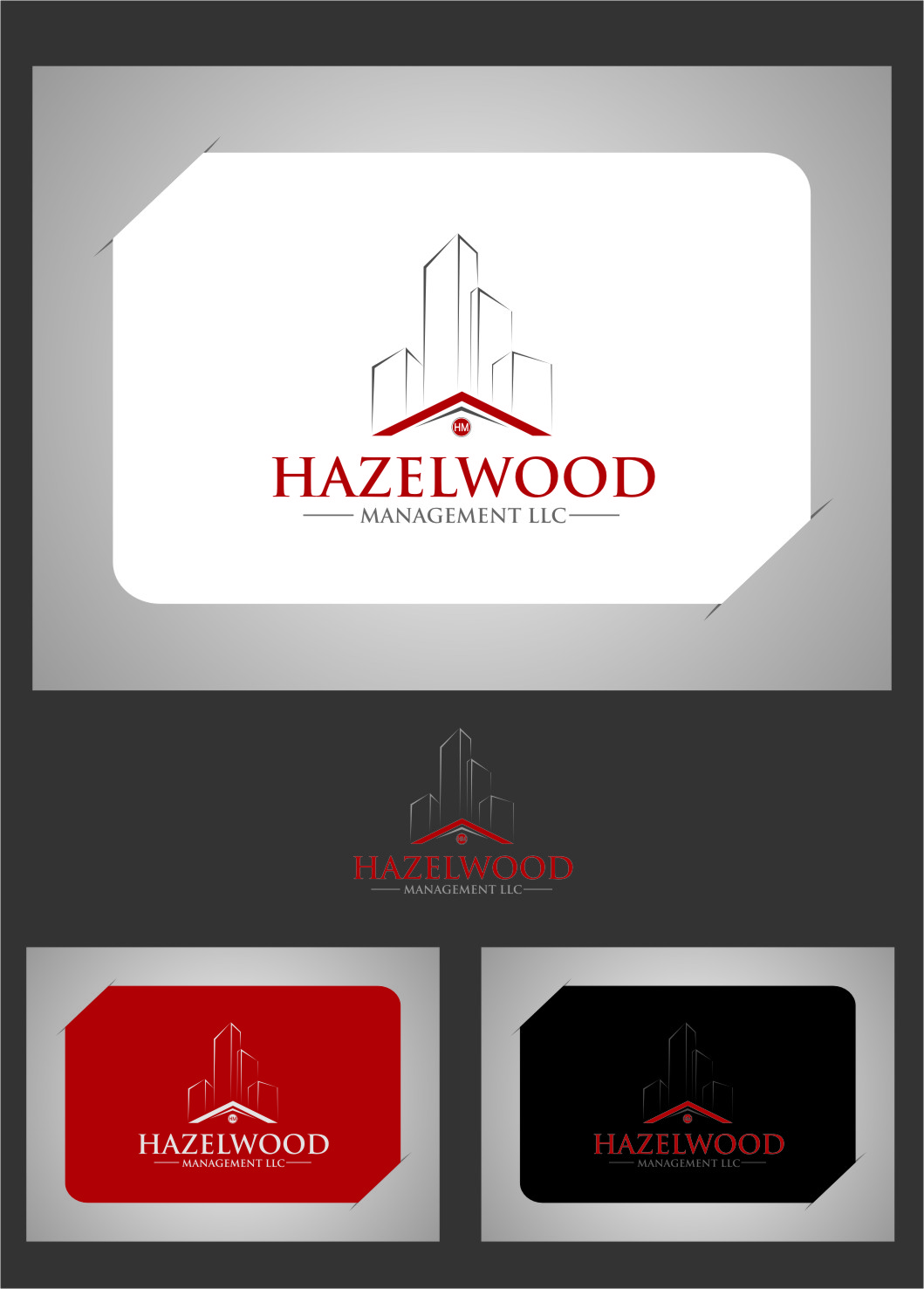 Logo Design by RasYa Muhammad Athaya - Entry No. 2 in the Logo Design Contest Hazelwood Management LLC Logo Design.