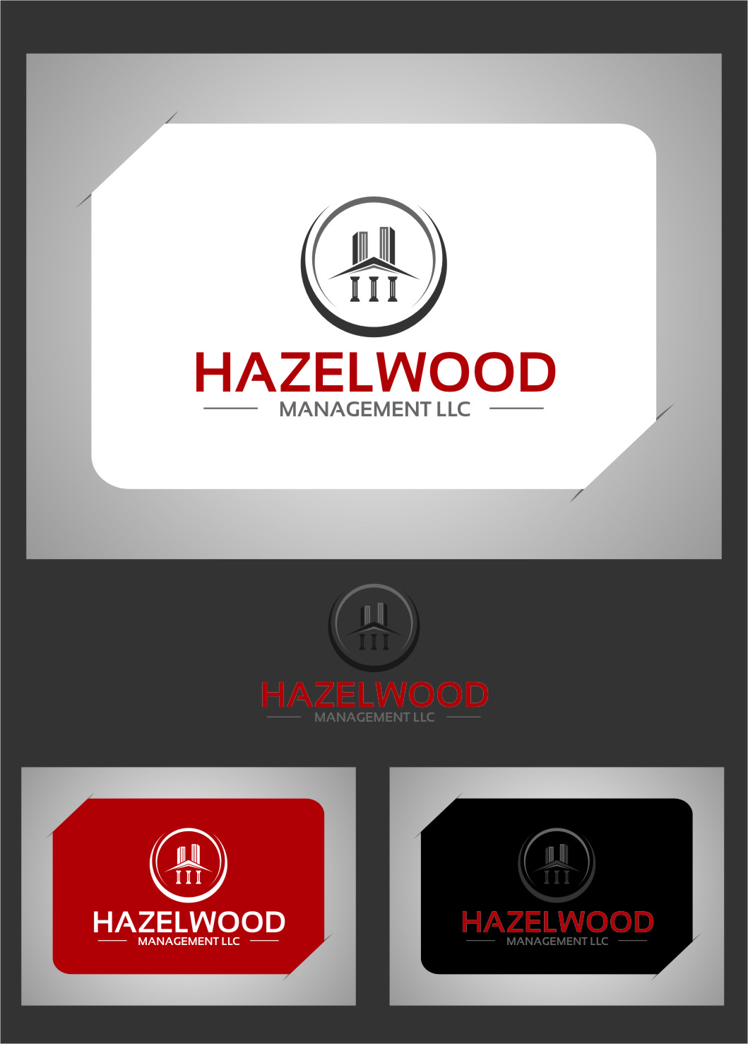 Logo Design by RasYa Muhammad Athaya - Entry No. 4 in the Logo Design Contest Hazelwood Management LLC Logo Design.