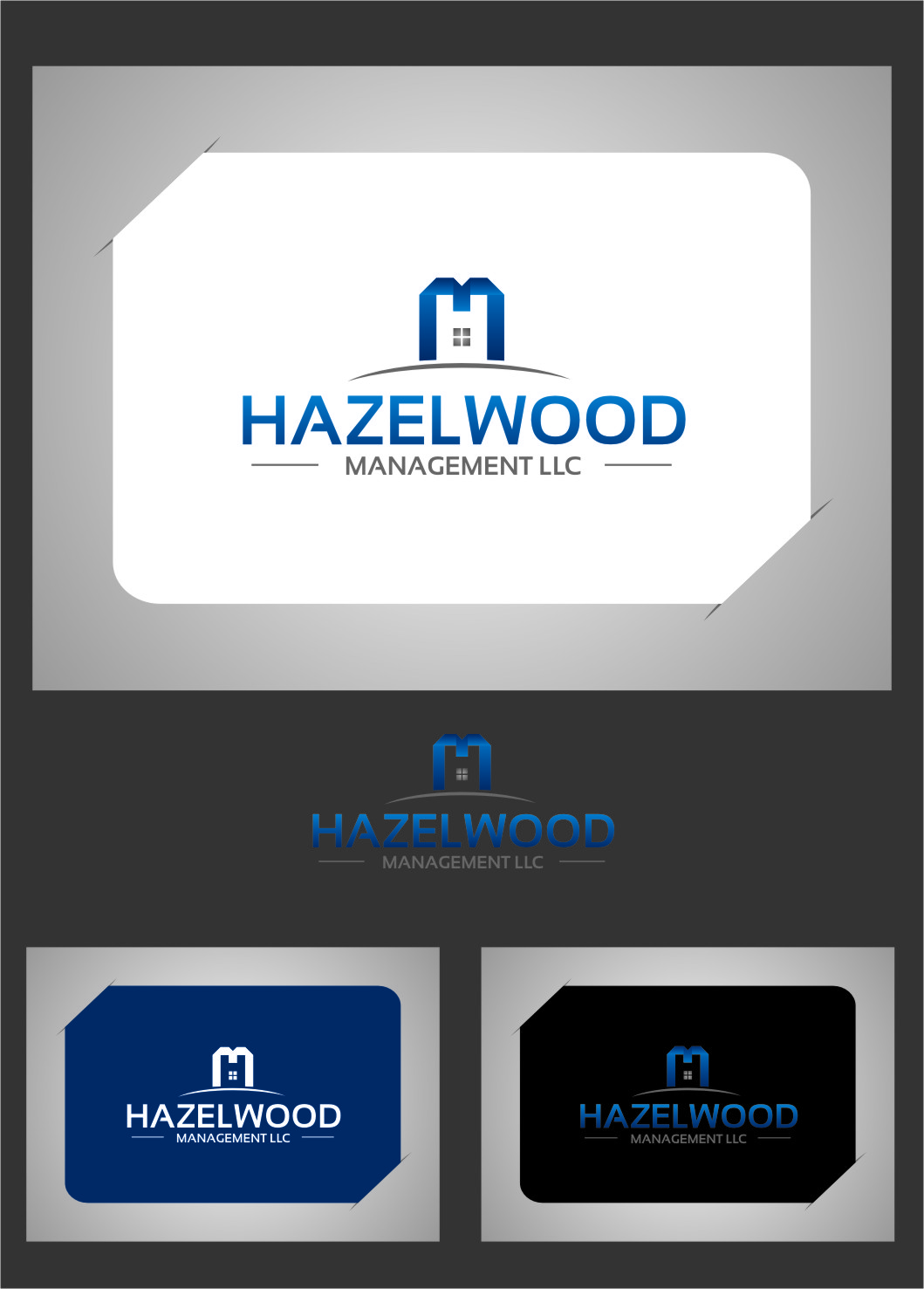 Logo Design by RasYa Muhammad Athaya - Entry No. 7 in the Logo Design Contest Hazelwood Management LLC Logo Design.