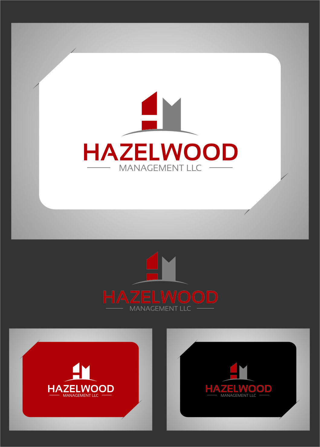 Logo Design by RasYa Muhammad Athaya - Entry No. 9 in the Logo Design Contest Hazelwood Management LLC Logo Design.