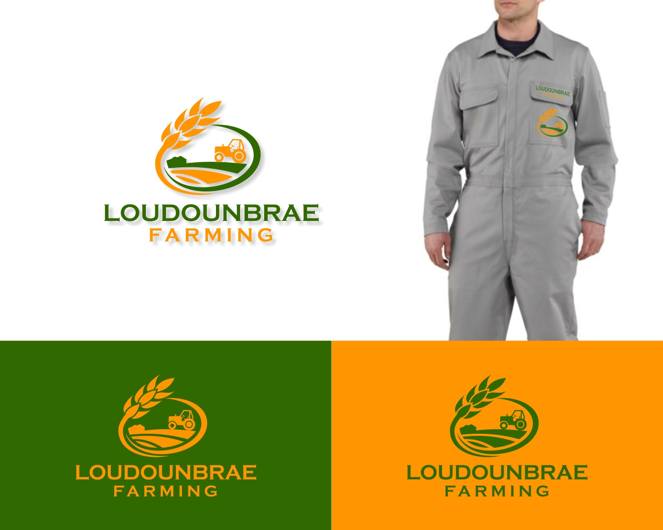 Logo Design by Rares.Andrei - Entry No. 58 in the Logo Design Contest Creative Logo Design for Loudounbrae Farming.