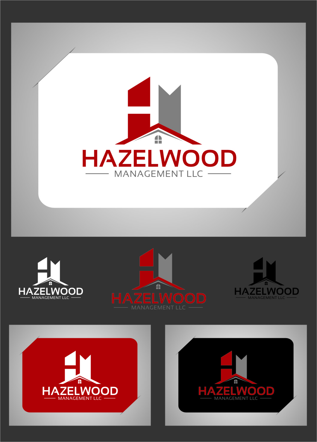 Logo Design by RasYa Muhammad Athaya - Entry No. 11 in the Logo Design Contest Hazelwood Management LLC Logo Design.