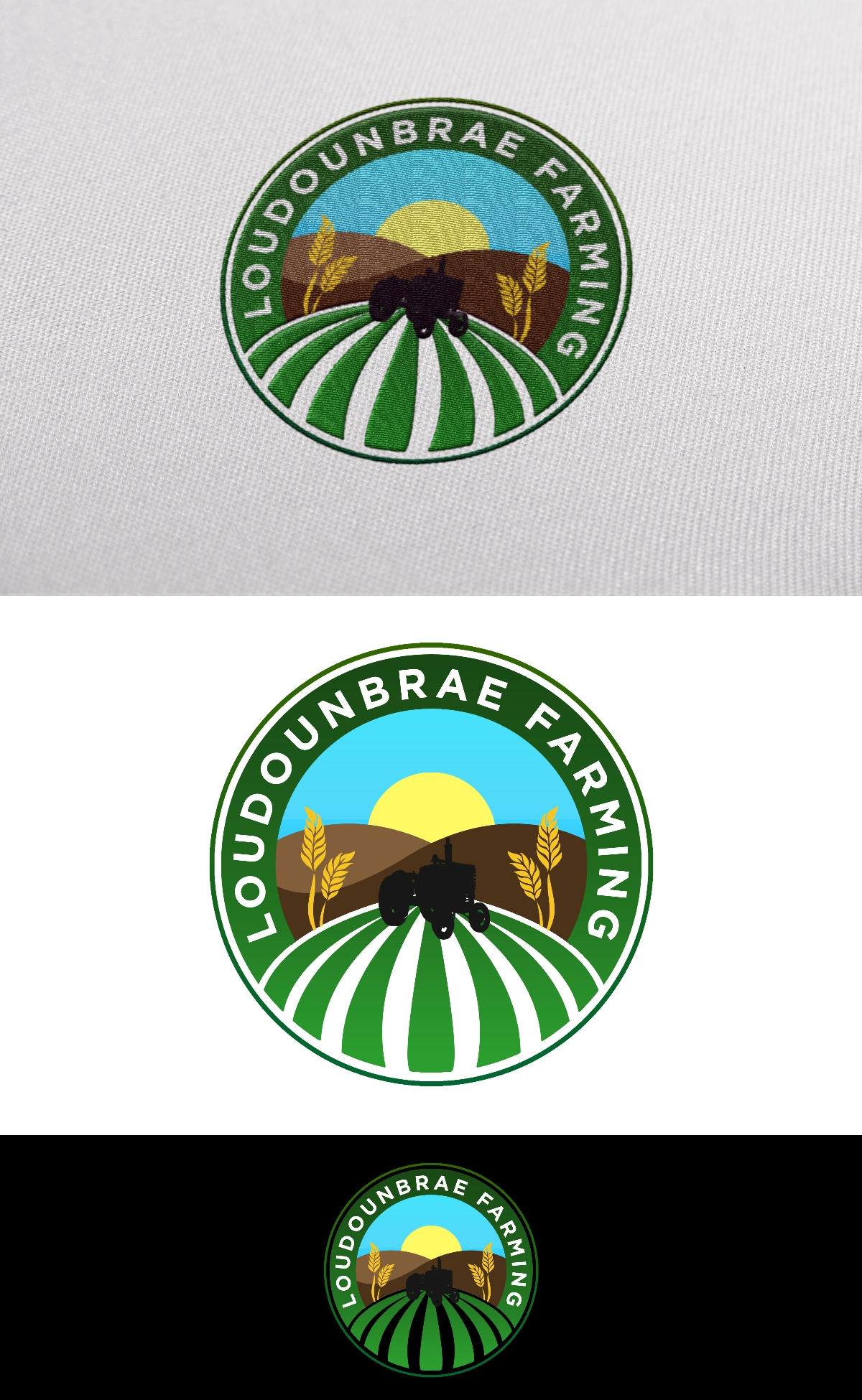 Logo Design by Juan_Kata - Entry No. 66 in the Logo Design Contest Creative Logo Design for Loudounbrae Farming.