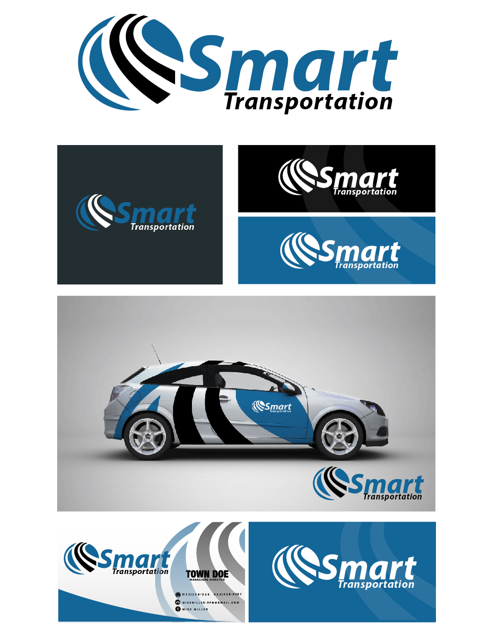 Logo Design by VENTSISLAV KOVACHEV - Entry No. 196 in the Logo Design Contest Imaginative Logo Design for Smart Transportation.