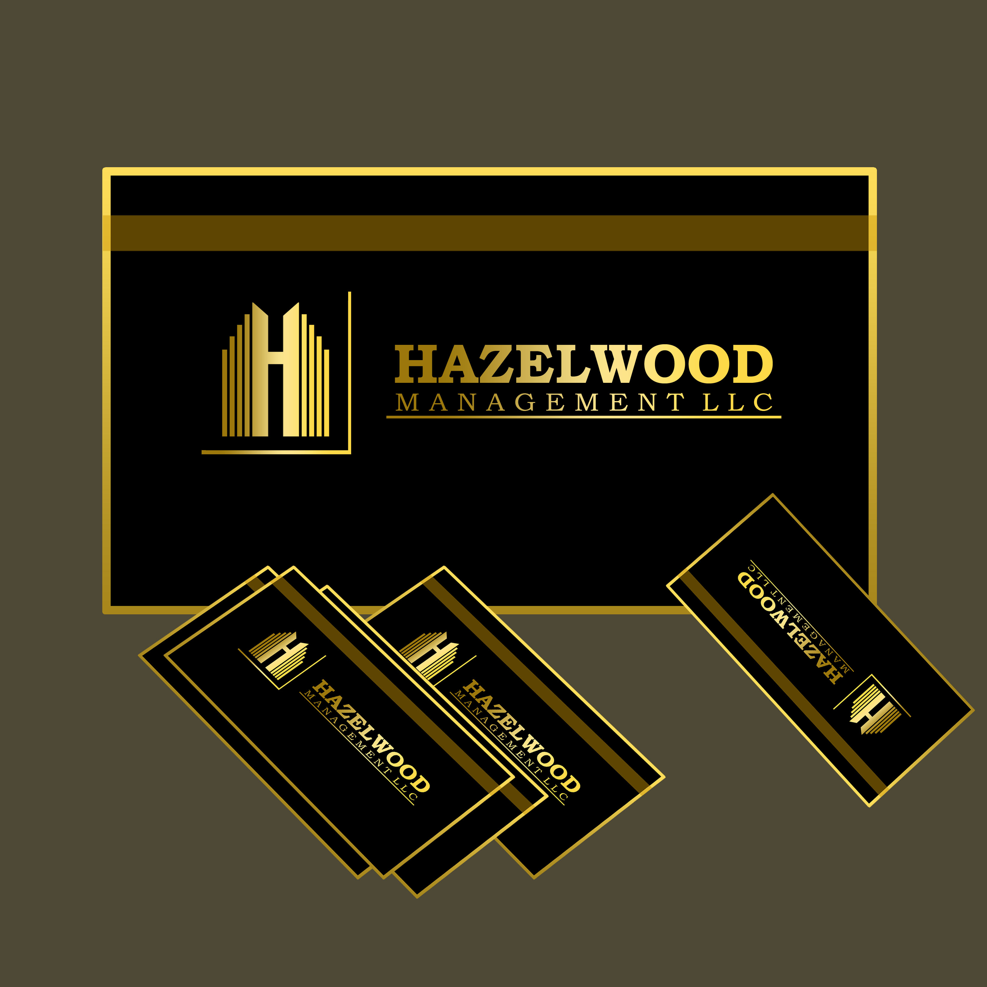 Logo Design by Allan Esclamado - Entry No. 23 in the Logo Design Contest Hazelwood Management LLC Logo Design.