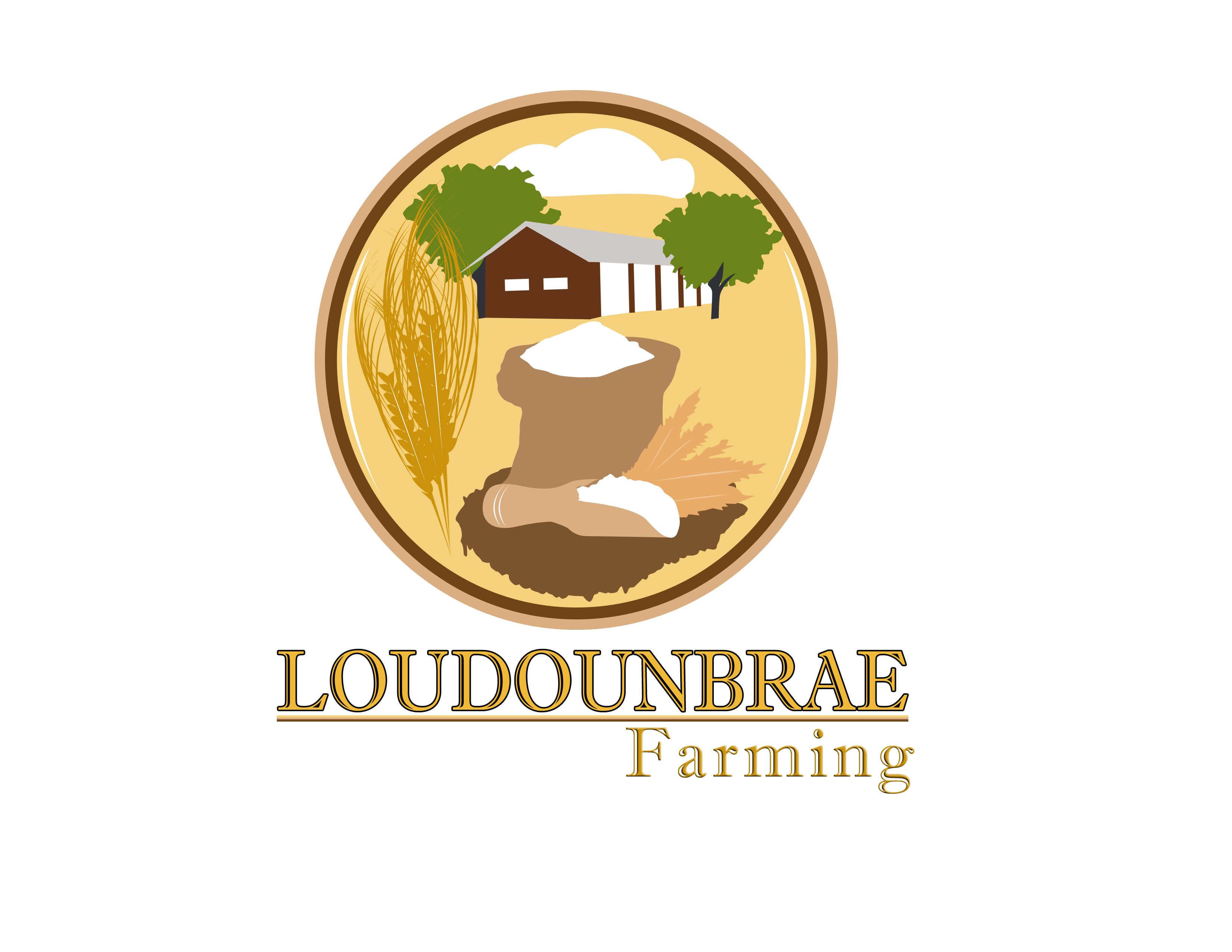 Logo Design by Jo Cres Jao - Entry No. 83 in the Logo Design Contest Creative Logo Design for Loudounbrae Farming.