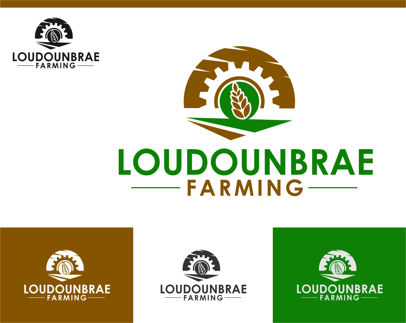 Logo Design by Ngepet_art - Entry No. 85 in the Logo Design Contest Creative Logo Design for Loudounbrae Farming.
