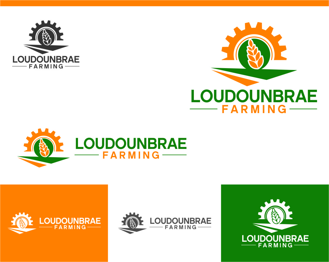 Logo Design by Ngepet_art - Entry No. 87 in the Logo Design Contest Creative Logo Design for Loudounbrae Farming.