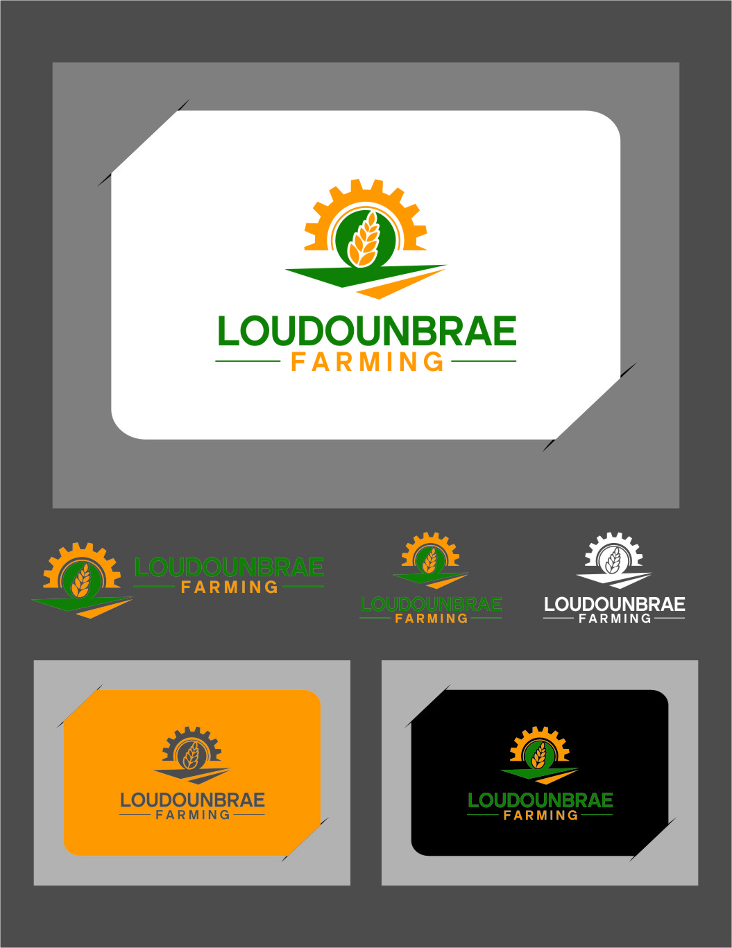 Logo Design by Ngepet_art - Entry No. 88 in the Logo Design Contest Creative Logo Design for Loudounbrae Farming.