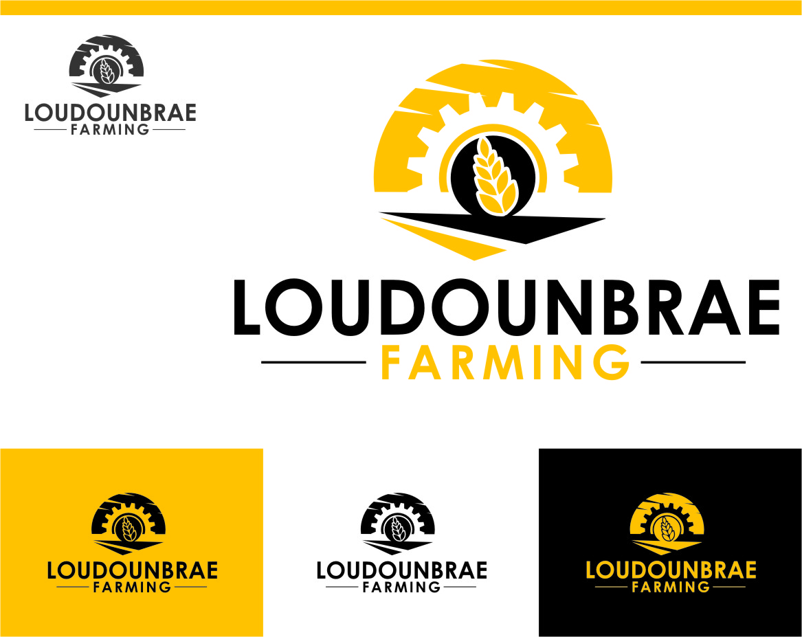 Logo Design by Ngepet_art - Entry No. 92 in the Logo Design Contest Creative Logo Design for Loudounbrae Farming.