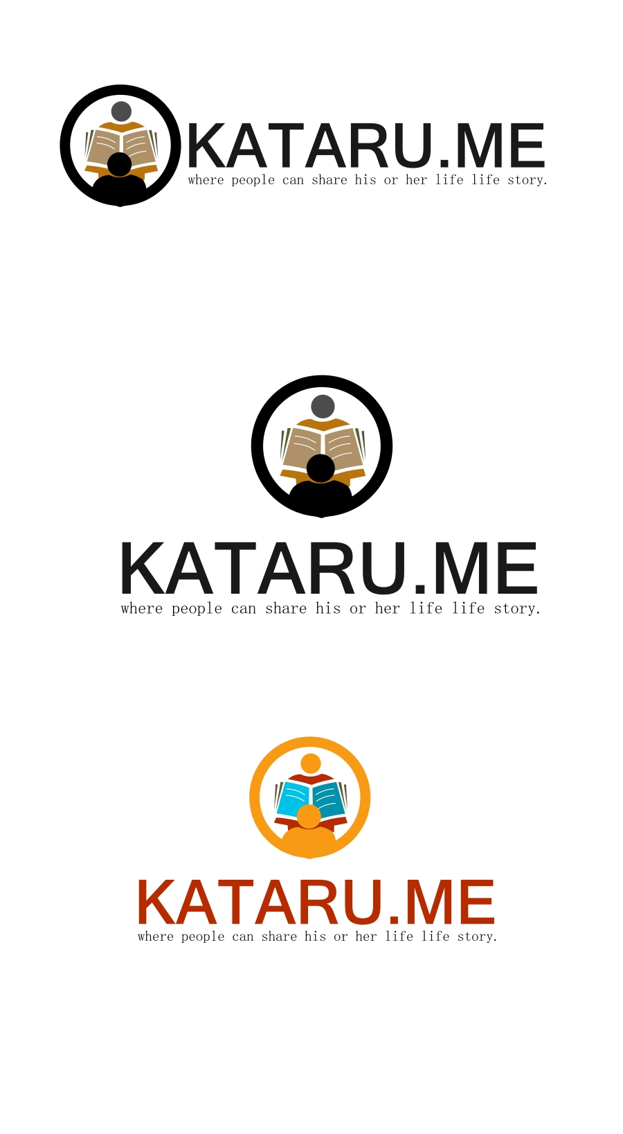 Logo Design by Private User - Entry No. 44 in the Logo Design Contest Inspiring Logo Design for KATARU.ME.