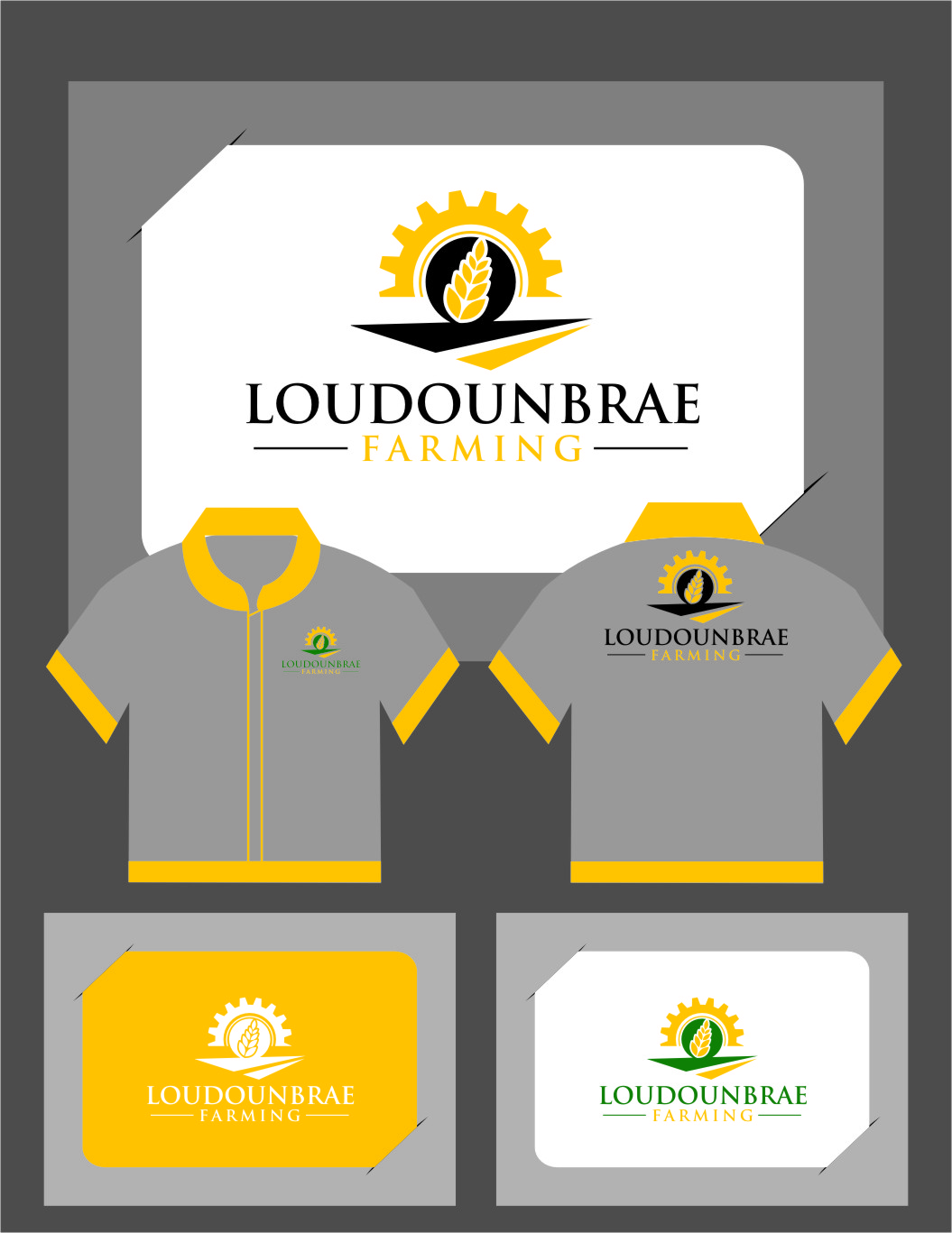 Logo Design by Ngepet_art - Entry No. 106 in the Logo Design Contest Creative Logo Design for Loudounbrae Farming.