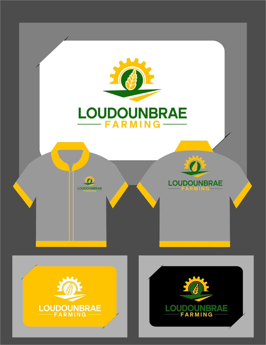 Logo Design by Ngepet_art - Entry No. 107 in the Logo Design Contest Creative Logo Design for Loudounbrae Farming.