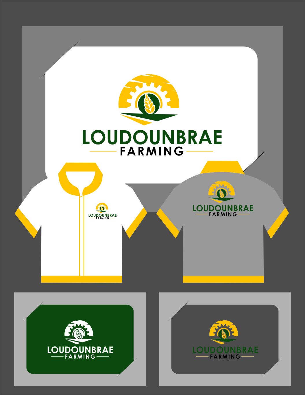 Logo Design by Ngepet_art - Entry No. 108 in the Logo Design Contest Creative Logo Design for Loudounbrae Farming.