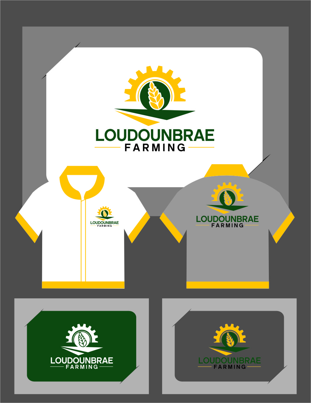 Logo Design by Ngepet_art - Entry No. 109 in the Logo Design Contest Creative Logo Design for Loudounbrae Farming.