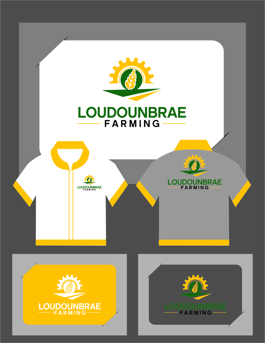 Logo Design by RasYa Muhammad Athaya - Entry No. 110 in the Logo Design Contest Creative Logo Design for Loudounbrae Farming.