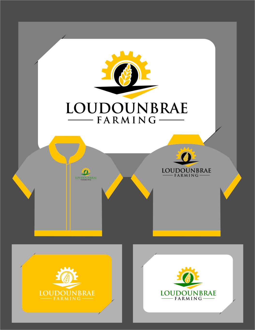 Logo Design by RasYa Muhammad Athaya - Entry No. 111 in the Logo Design Contest Creative Logo Design for Loudounbrae Farming.