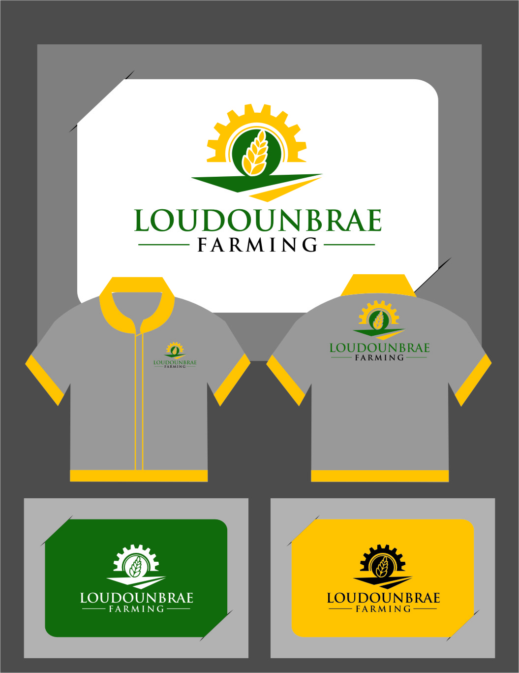 Logo Design by Ngepet_art - Entry No. 112 in the Logo Design Contest Creative Logo Design for Loudounbrae Farming.