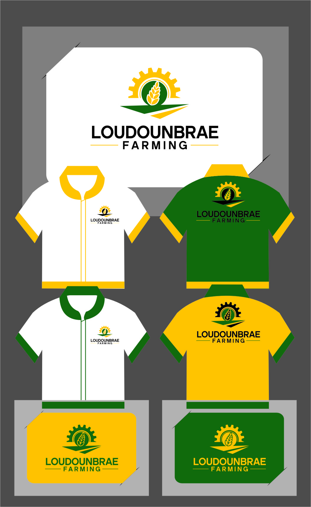 Logo Design by RasYa Muhammad Athaya - Entry No. 113 in the Logo Design Contest Creative Logo Design for Loudounbrae Farming.