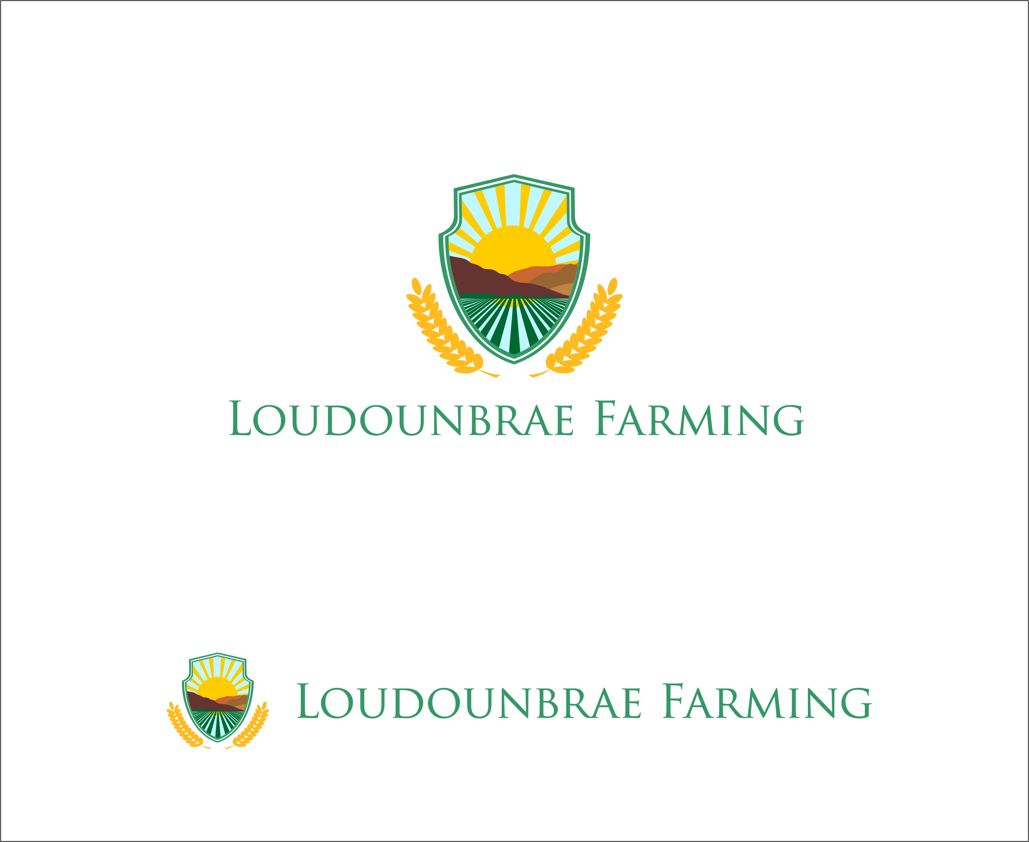 Logo Design by Mhon_Rose - Entry No. 116 in the Logo Design Contest Creative Logo Design for Loudounbrae Farming.