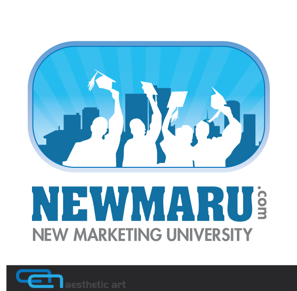 Logo Design by aesthetic-art - Entry No. 142 in the Logo Design Contest NewMarU.com (New Marketing University).