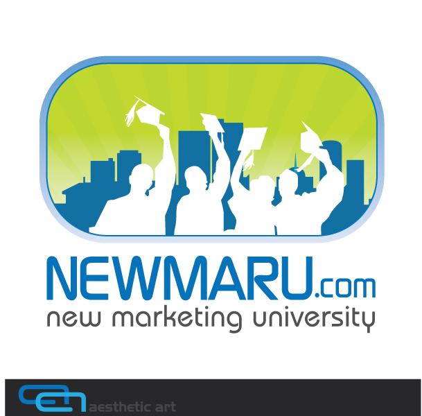 Logo Design by aesthetic-art - Entry No. 145 in the Logo Design Contest NewMarU.com (New Marketing University).