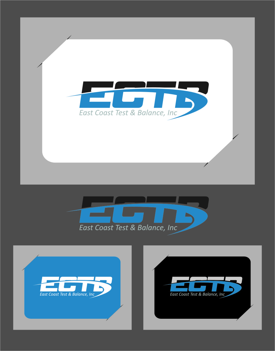 Logo Design by Ngepet_art - Entry No. 38 in the Logo Design Contest Logo Design for East Coast Test & Balance, Inc. (ECTB).