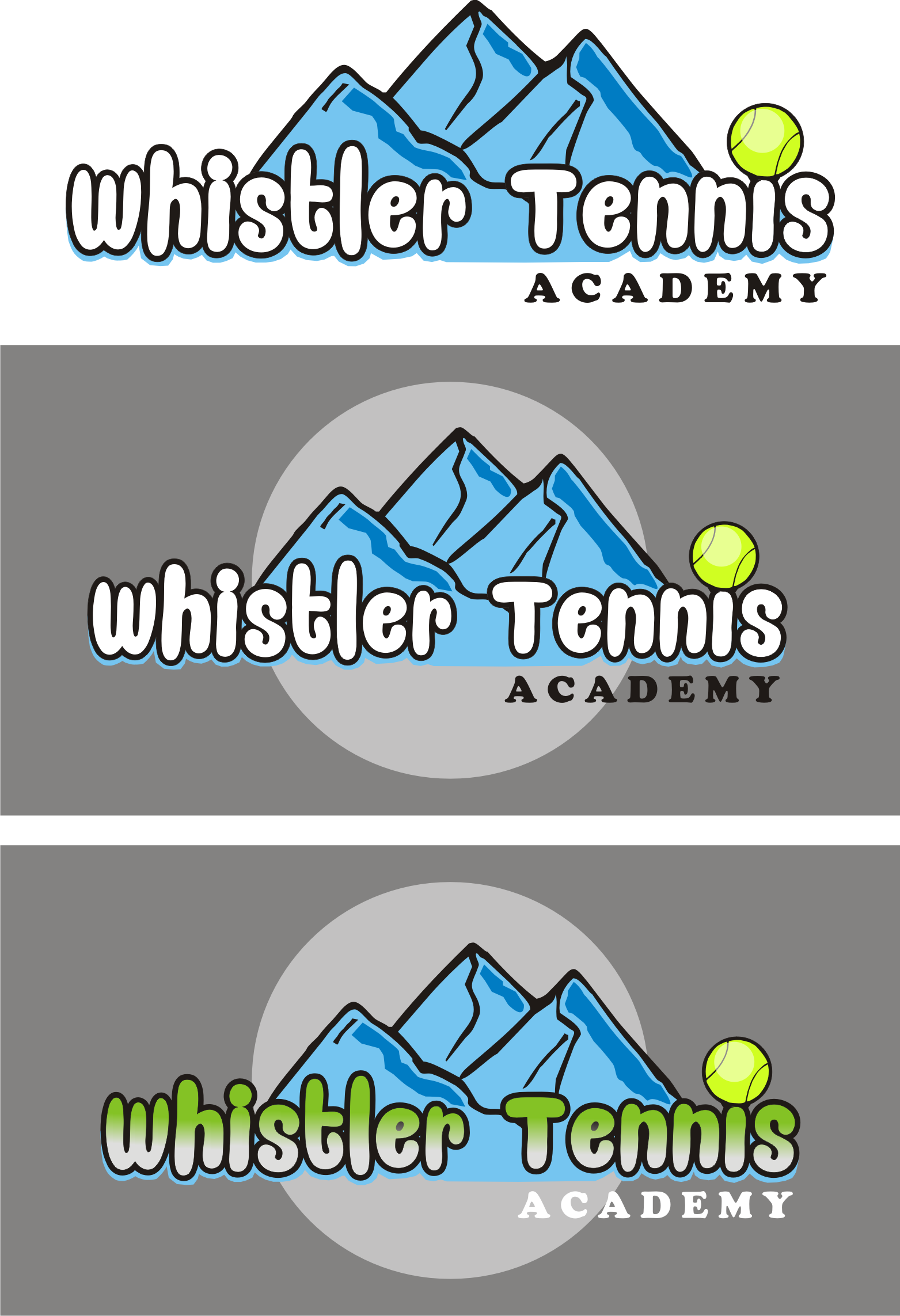 Logo Design by Nthus Nthis - Entry No. 5 in the Logo Design Contest Imaginative Logo Design for Whistler Tennis Academy.