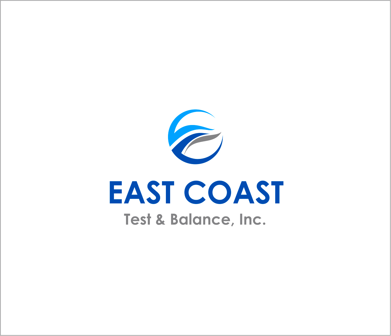 Logo Design by Armada Jamaluddin - Entry No. 50 in the Logo Design Contest Logo Design for East Coast Test & Balance, Inc. (ECTB).