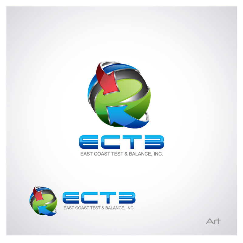 Logo Design by Puspita Wahyuni - Entry No. 59 in the Logo Design Contest Logo Design for East Coast Test & Balance, Inc. (ECTB).