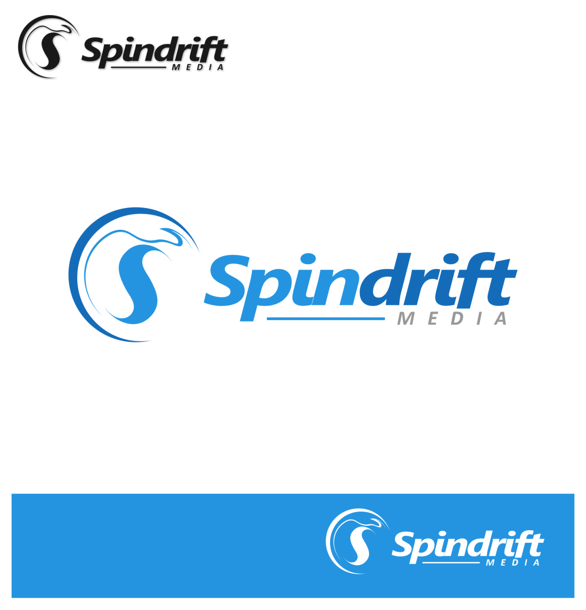 Logo Design by Ngepet_art - Entry No. 46 in the Logo Design Contest Inspiring Logo Design for Spindrift Media.