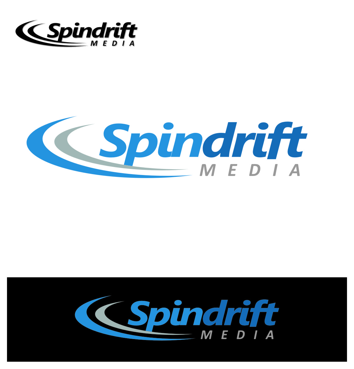 Logo Design by Ngepet_art - Entry No. 48 in the Logo Design Contest Inspiring Logo Design for Spindrift Media.
